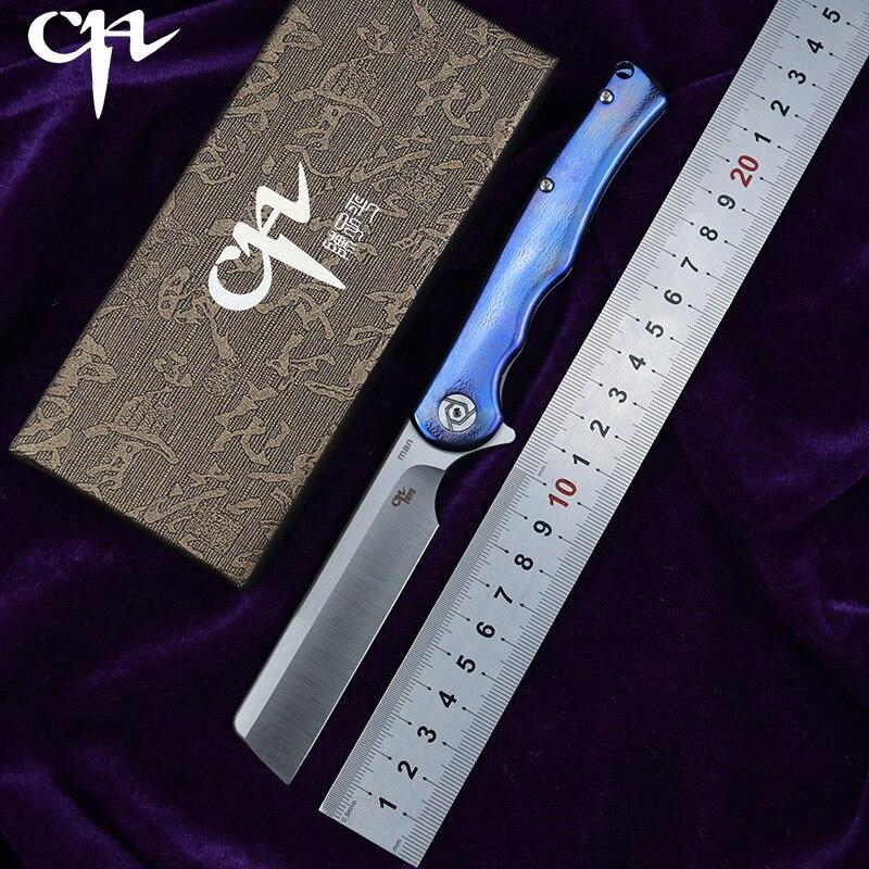 CH CHMAN Flipper folding knife S35VN blade bearing ball bearing titanium alloy handle outdoor camping fruit
