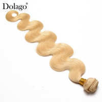 Body Wave Brazilian Virgin Hair 613 Long Blonde Human Hair Weave Bundles 1 Piece Hair Extension Dolago Hair Products