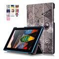 Цвет Окрашенные Магнитный Smart Cover Для Lenovo Tab3 7.0 Эфирное 710F/710I Планшетные случаи PU Кожаный Чехол Flip стенд Обложка