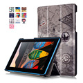 Color Painted Magnetic Smart Cover For Lenovo Tab3 7.0 Essential 710F/710I Tablet cases PU Leather Case Flip stand Cover