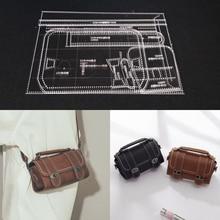 1 סט DIY אקריליק עור תבנית בית עבודת יד Leathercraft תפירת דפוס כלים אבזר כתף תיק 125x100x230mm
