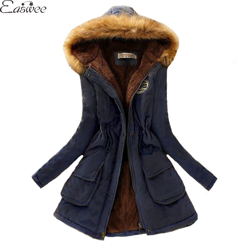 1PC Winter Jacket Women Fur Hooded Thick Coat Military Overcoats Casaco Jaqueta Feminina Abrigos Mujer ZZ3460