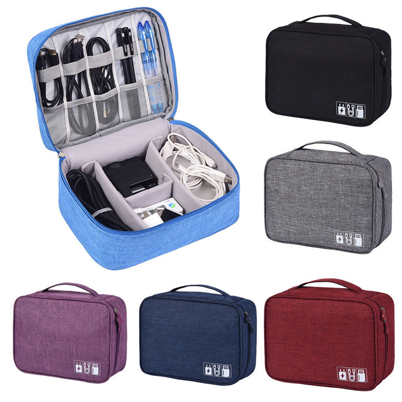 Hot Portable Electronic Accessories Cable USB Drive Organizer Bag Travel Insert Case