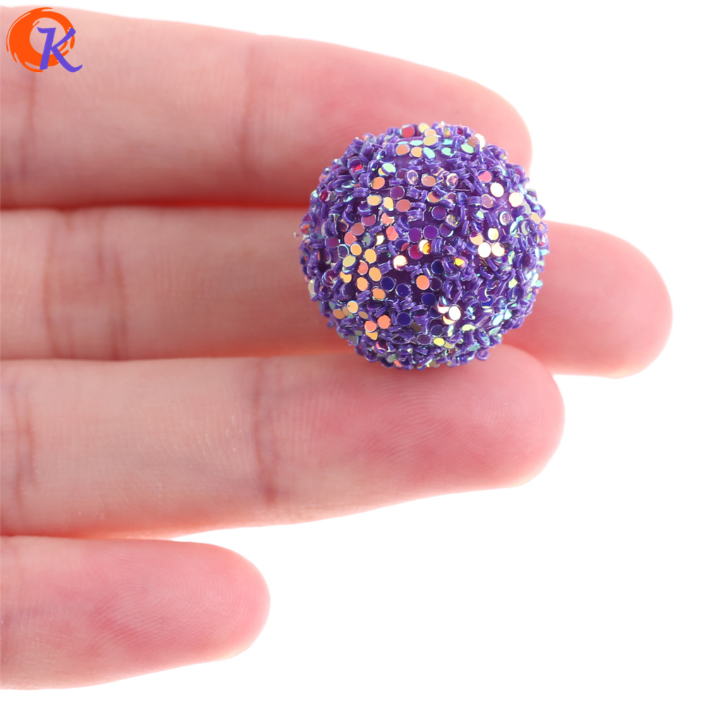 Image 3 - Cordial Design 12mm To 20mm Acrylic Bead Findings/Glitter On Round Beads/Hand Made/DIY/Chunky Beads/Earrings Jewelry Making-in Beads from Jewelry & Accessories