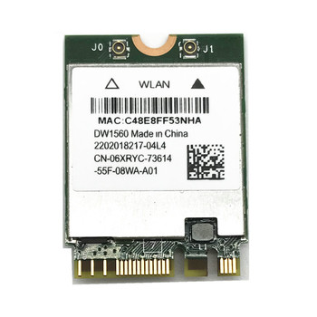 Senza fili Card Adapter per Hackintosh dell DW1560 BCM94352Z NGFF M.2 WiFi WLAN Bluetooth 4.0 802.11ac 867Mbps carta di BCM94352