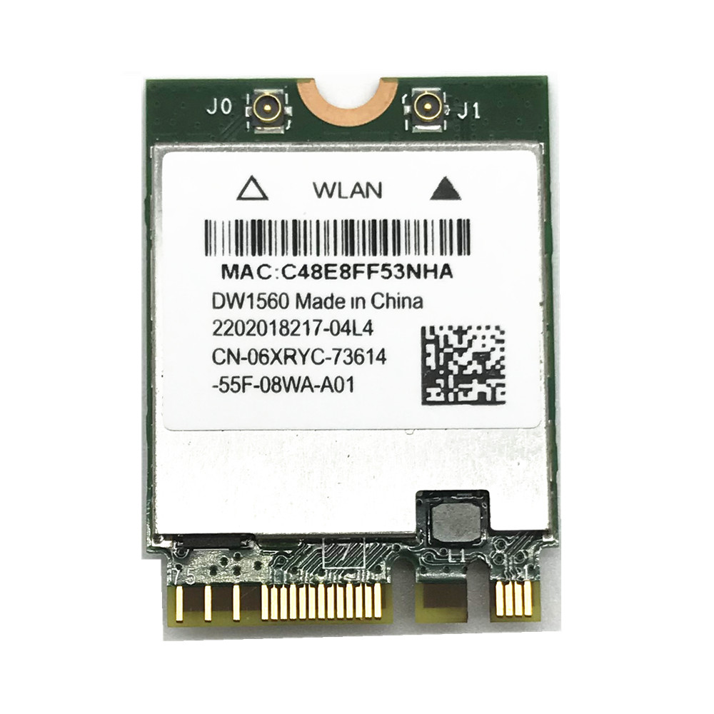 DW1820A BCM94350ZAE Bluetooth 4.1 M.2 NGFF WiFi Wireless Card for Dell Laptops