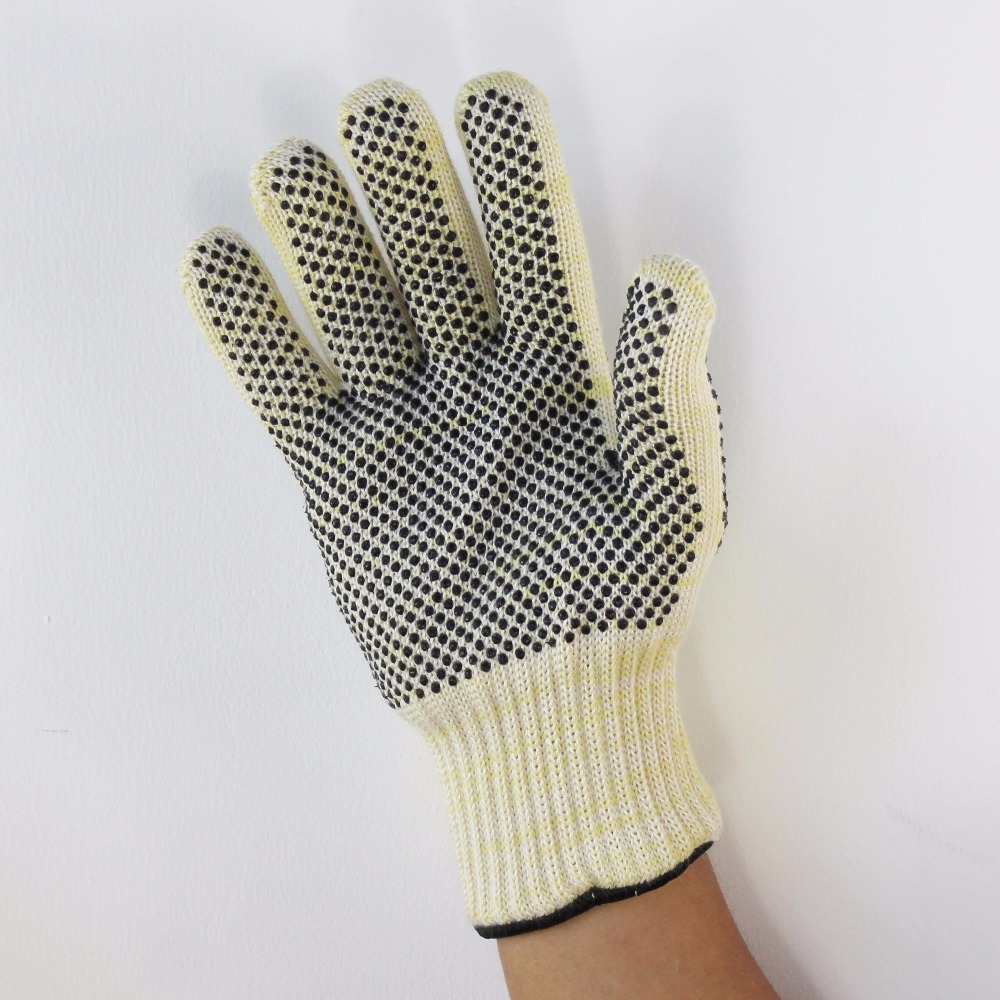 high temperature protect gloves reinforced palm reversed silicone dot wear resistance heat resistant insulated thickened lining high quality hand tool gloves 12 pairs 700g cotton gloves wear resistant work thick gloves against high low temperature gloves