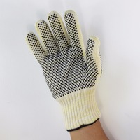 high temperature protect gloves reinforced palm reversed silicone dot wear resistance heat resistant insulated thickened lining|resistance|resistance heating|resistant gloves -