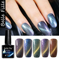 10ml UV Soak Off Cat Eyes Chameleon Glue Nail Gel Polish Need Use The Black Coat Top Base Coat And Magnet Stick Chamelon