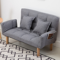 Modern Foldable Japanese Couch Sofa With Backrest Armrest Reclining Home Living Room Furniture Sleeping Sofa Bed