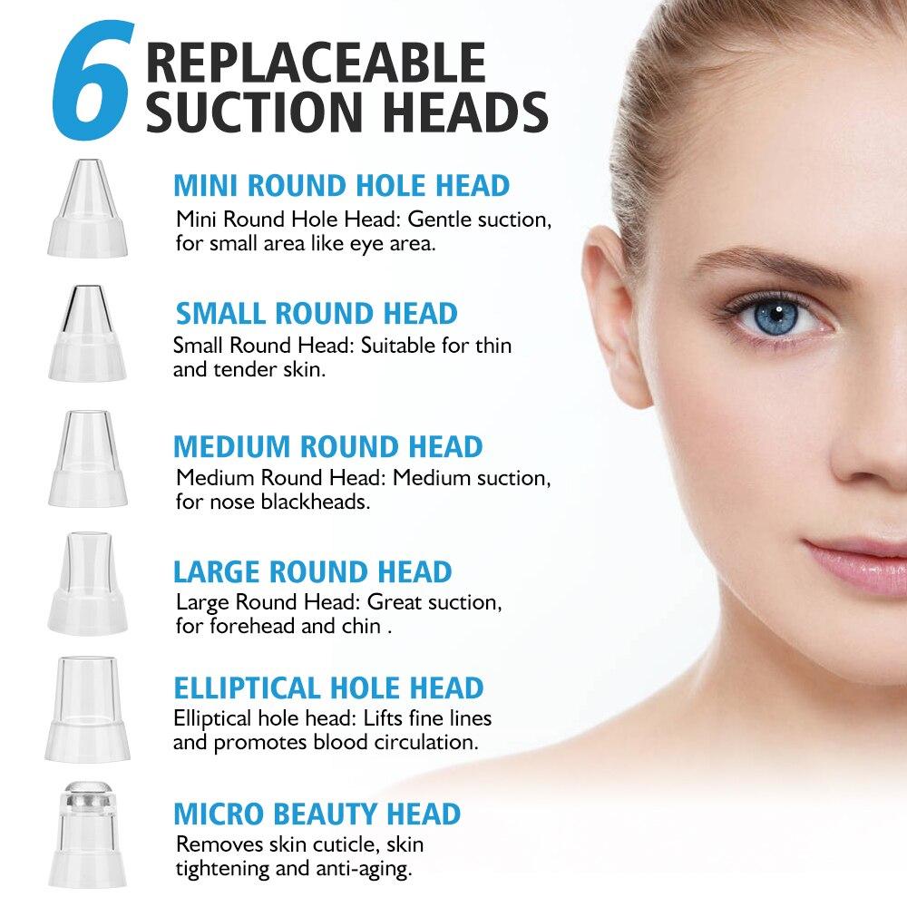 Blackhead Remover Nose T Zone Pore Vacuum Acne Pimple Removal Vacuum Suction Tool Facial Diamond Dermabrasion