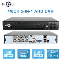 Hiseeu 4CH 960P 8CH 1080P 3 In 1 DVR Video Recorder For AHD Camera Analog Camera