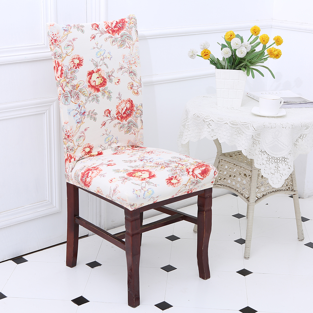 Removable Printing Dining Chair Covers For Restaurant