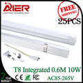 Fedex free shipping new integrated tube led 600mm t8 led tube 10w AC85-265V CE Rohs approved
