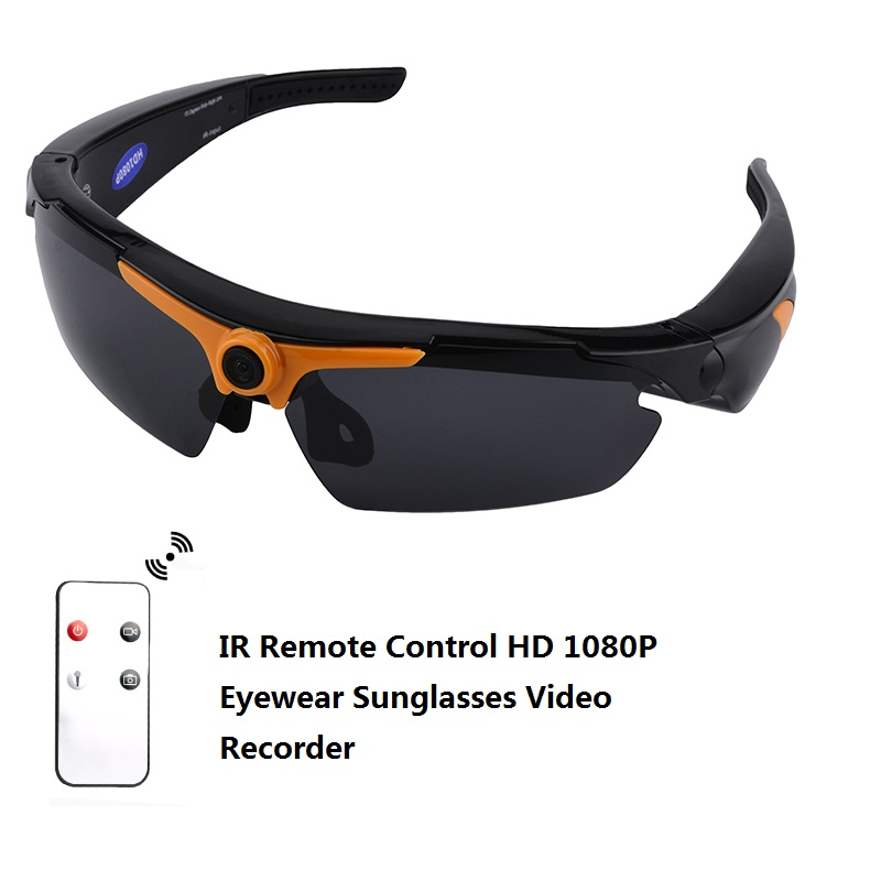 1080P HD Angle Sunglasses 170 Wide Eye Wear Mini Video Recorder Camera Mini DV DVR Polarized Sunglasses with Remote Control