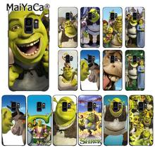 MaiYaCa Cartoon Moive Shrek Coon Black Soft Shell Phone Cover for Samsung Galaxy S9 S10 S10E S6 S7 S8 S9 S9Plus S5 M10 20(China)
