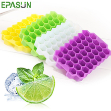 цена на EPASUN Silicone Ice Cube Mold 37 Ice Tray Cube Maker With Lid Cover BPA Free Large Mould Big Easy Release Cube Maker Container