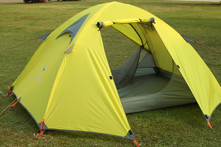 HARLEM double layer tent camping tent Caulking rain couple tent Ultralight aluminum pole wholesale