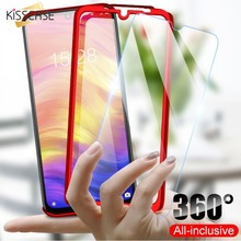 KISSCASE 360 Full Protection Phone Case For Samsung Galaxy A8 A7 A6 A9 2018 Tempered Glass J4 Plus J6