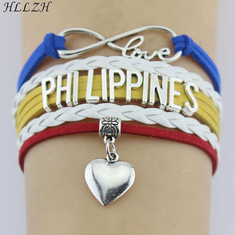 Heart White Woven Weave Braided Cord Multi Strand Leather Bracelet Steel