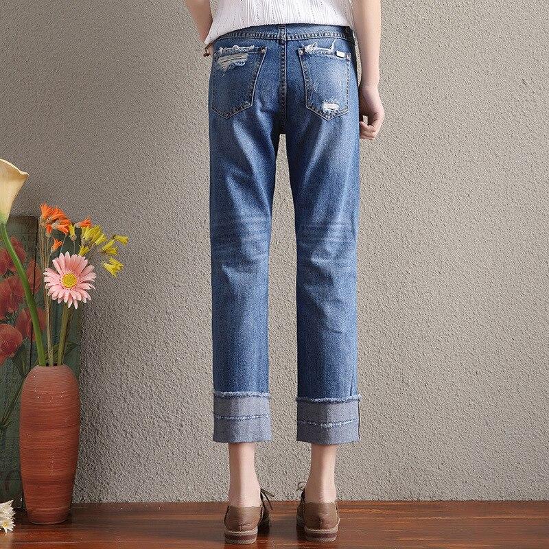 Di Donna Dei Larghi Pantaloni Autunno Modo Jeans Gamba 2017 RWqAx7z