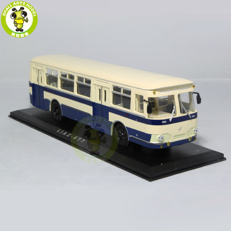 1/43 LIAZ 677 LIAZ-677 Bus Model USSR Soviet Union city bus ULTRA CLASSIC BUS MODEL Blue knl hobby voyager model pea306 soviet union gaz aaa three axis truck with cross country track metal etching pieces