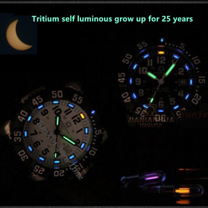 Image 2 - Top brand luxury tritium luminous quartz watch men waterproof sports men watches full steel clock tritium light uhren damen saat