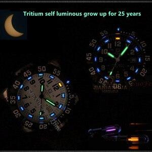 Image 2 - Top marka luksusowe tryt podświetlany zegarek kwarcowy mężczyźni wodoodporna sport mężczyźni zegarki pełna stal zegar tryt światła uhren damen saat