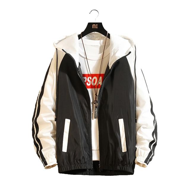 8d9be8a7051 KUYOMENS 2019 Spring Autumn Casual Bomber Windbreaker Jacket Men Women Hooded  Thin Zipper Coat Slim Outwear Hip Hop Jacket Men
