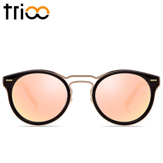 284be498d22c TRIOO 2017 New Pink Mirror Lens Women Sunglasses With Original Case Box  Unisex Oculos UV400 Protection