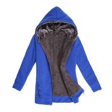 Free Shipping Winter Fashion Women Long Hooded Sweatshirt Coat Warm Thicken Zip Up Outerwear Hoodies Jacket Coats 6 Colors