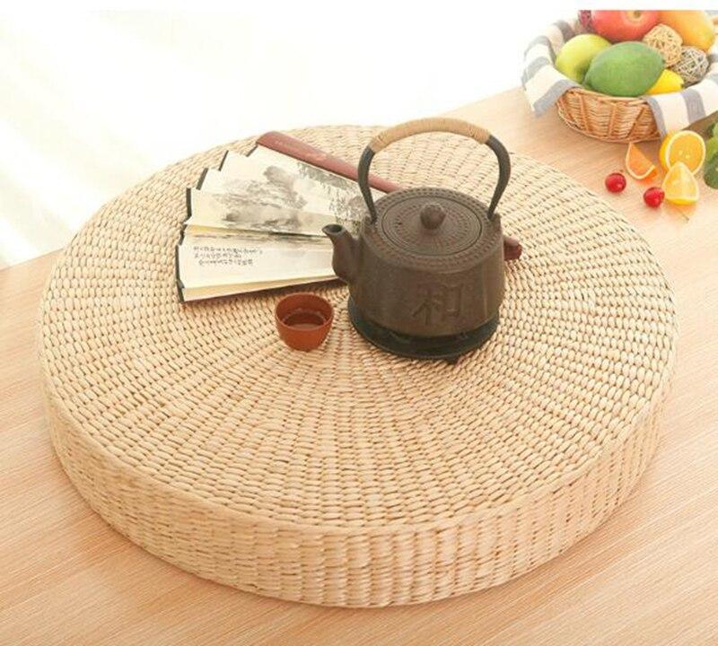 4 Size Hot Natural Straw Round Pouf Tatami Cushion Floor Cushions Meditation Yoga Round Mat Zafu Chair 40 45 50 60 cushion in Cushion from Home Garden