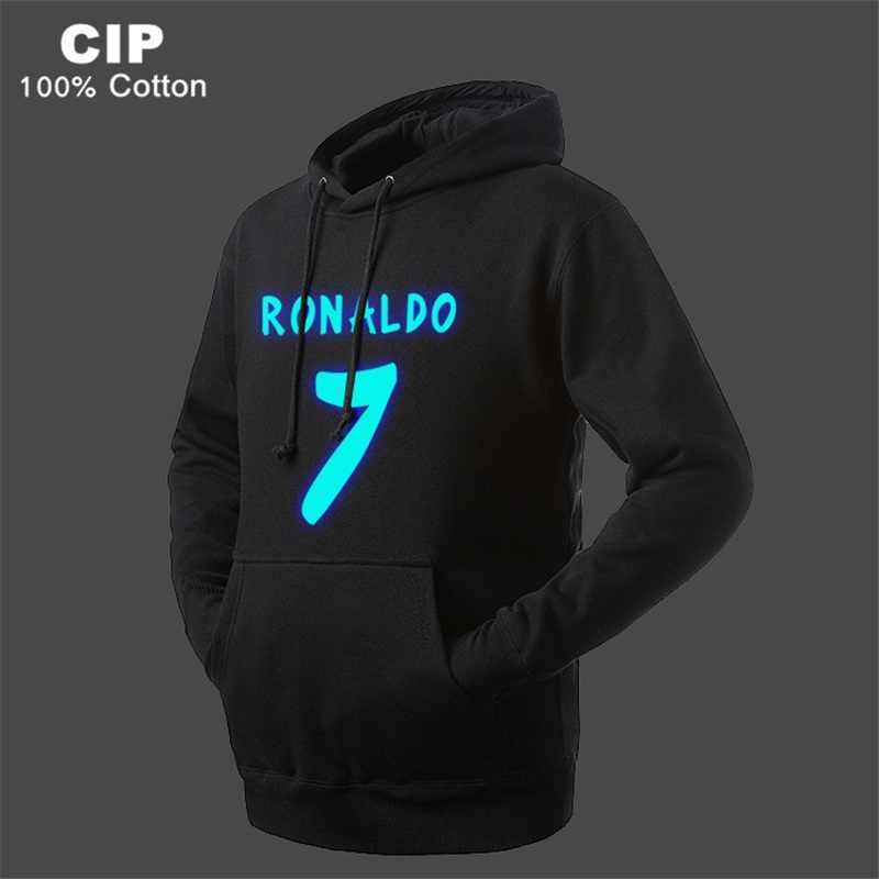 f0d74d636 Ronaldo Kids Winter Jackets Hoodie Children's Clothing Boy Kids Outwear  Tops Costume Glow in Dark Boys