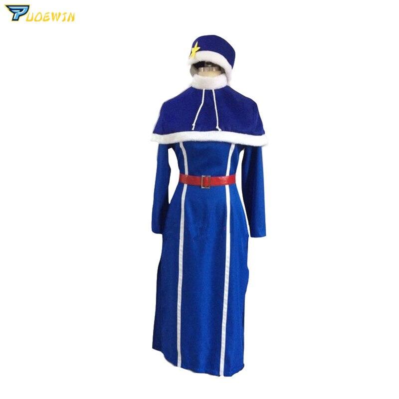 Anime Fairy Tail Juvia Lockser Blue Dress Cosplay Costume