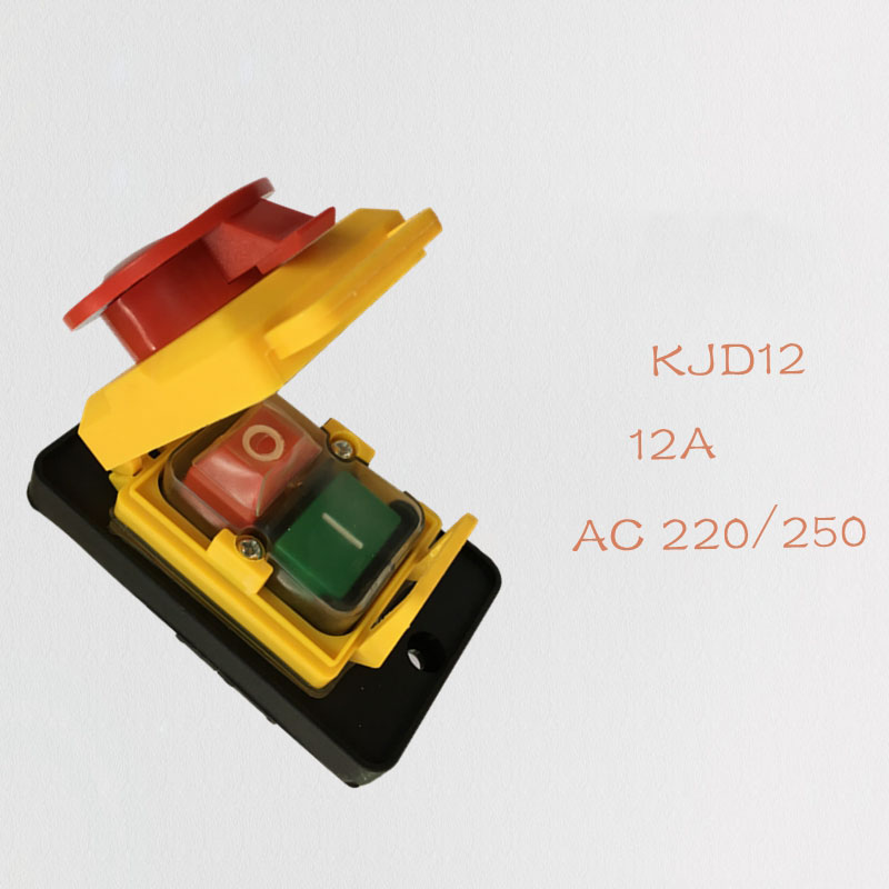 KJD12 Button Switch 250V 4-Pin Start Stop No Volt Release Push Button Switch NVR Common to Woodshop and Metalwork Machines se schlesinger schlesinger stop drinking and start living