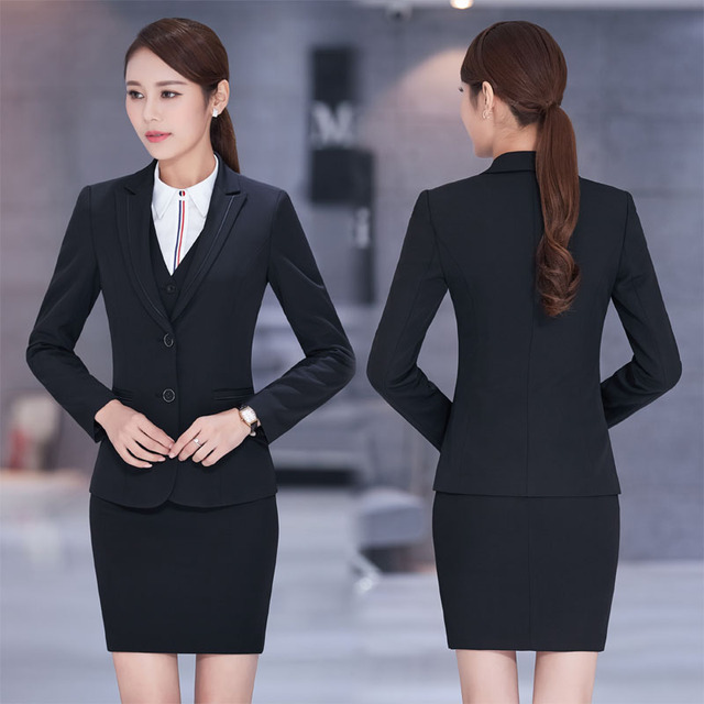 Plus Size 4xl Formal New Professional Business Women Work Suits With