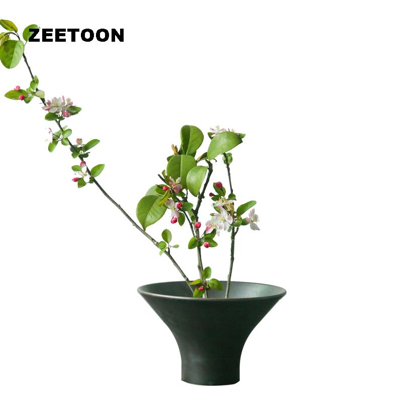 zen japons grosseiro cermica vaso de mesa vaso de flores de cermica kung fu jogo de
