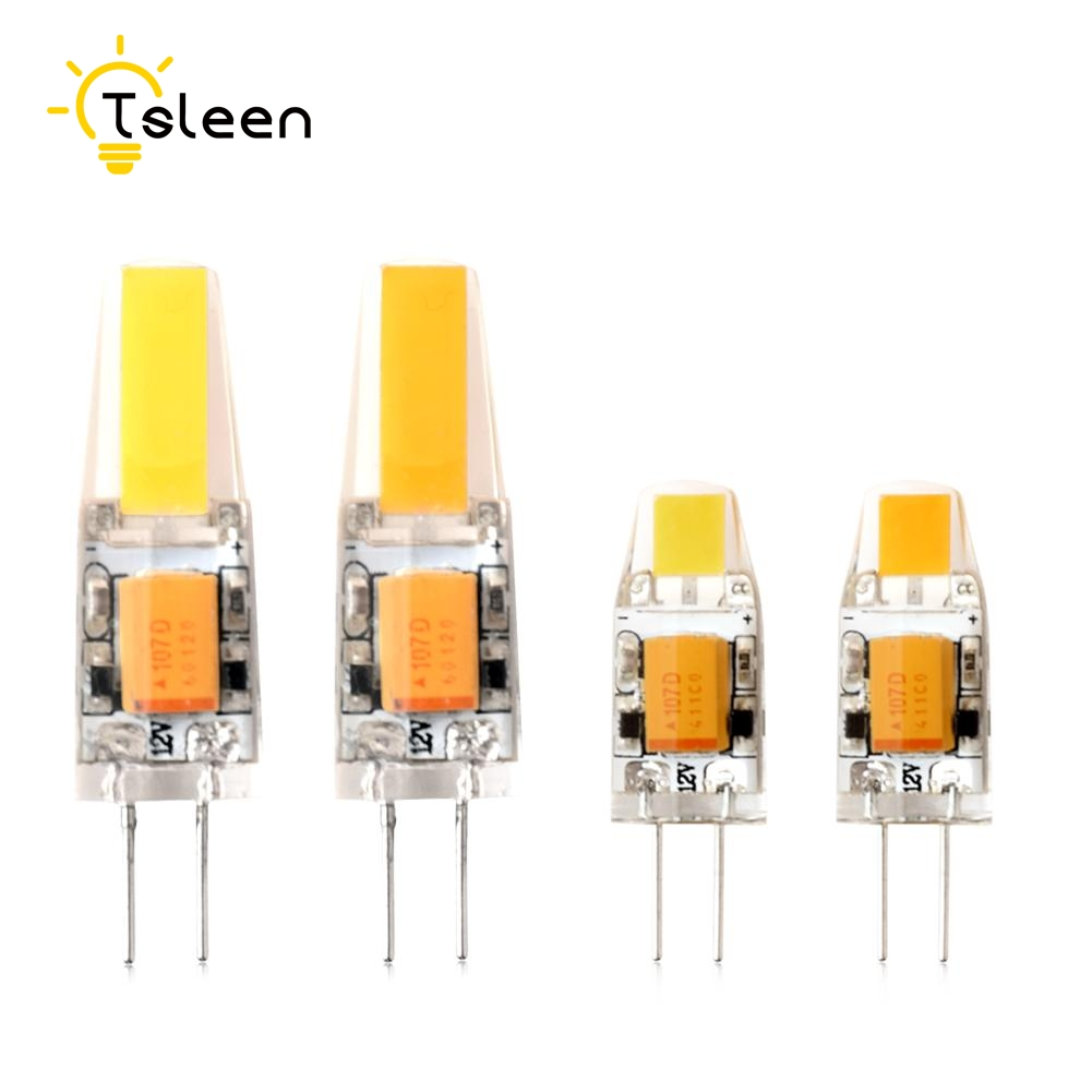 4PCS G4 LED Lamp AC DC 12V Mini Lampada LED Bulb G4 3W 6W COB Chip Light 360 Beam Angle Lights Replace 30W Halogen G4 Spotlight