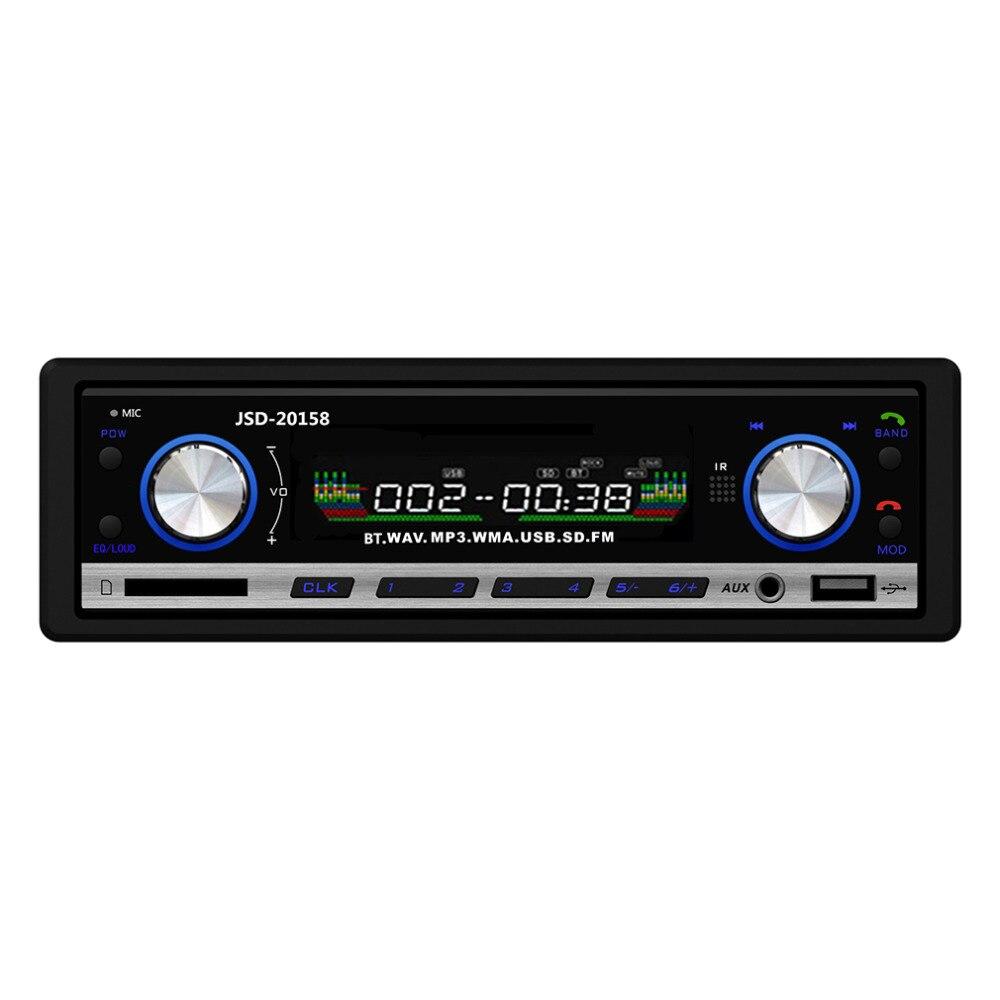 Nueva 12 V Car Stereo Radio FM Reproductor de MP3 de Audio de Apoyo Teléfono Bl