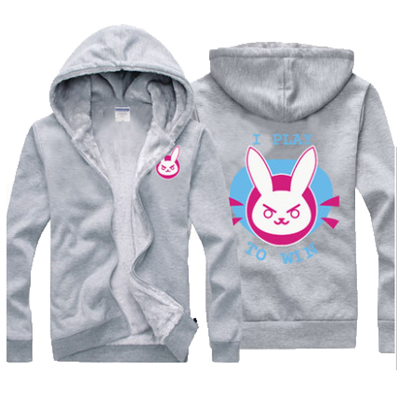 Winter Hot Sale Hoodies Overwatchs Cosplay Thickening Hooded Jacket With Cashmere Sweater Inside Winter Warm Hoodies