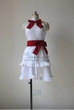 Por encargo fairy tail wendy marvell cosplay traje blanco lolita dress con volante guantes de halloween cosplay
