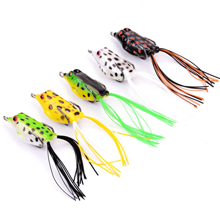 5pcs Fishing Lure Mixed 5 Models Fishing Tackle 5 Color 5.8g/4.2cm Frog Lure Bass Fishing Hooks Bait Tackle Topwater new bass floating frog topwater fish fishing lure bait hooks tackle 60mm 9g
