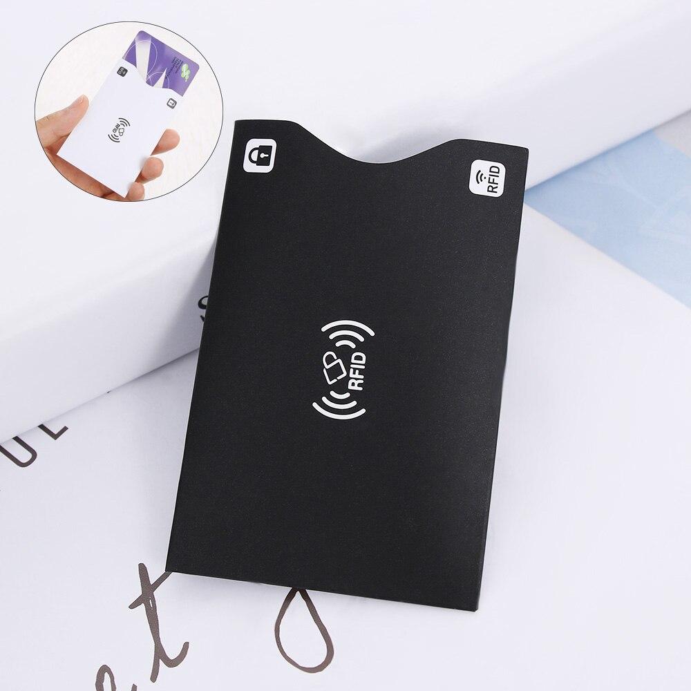 1/2 Stücke Neue Männer Frauen Pu Leder Kreditkarten Halter Funktion Smart Karte Schützen Passport Karte Brieftasche Halter Sicherheit Reader Fall