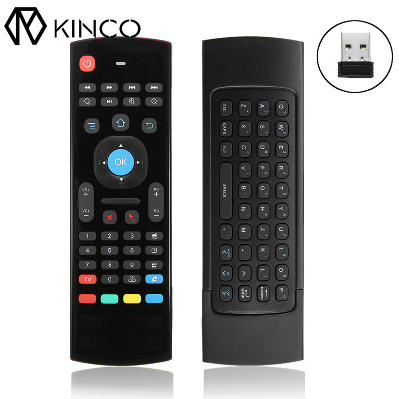 KINCO SHTV1254 Universal Smart Device 2.4G USB Receiver Remote Controller for Smart TV TV Box etc. 3D mouse & Wireless keyboard