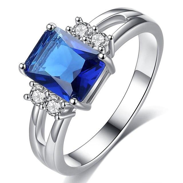 Exquisite Princess Cut Cubic Zirconia Fashion Ring 3