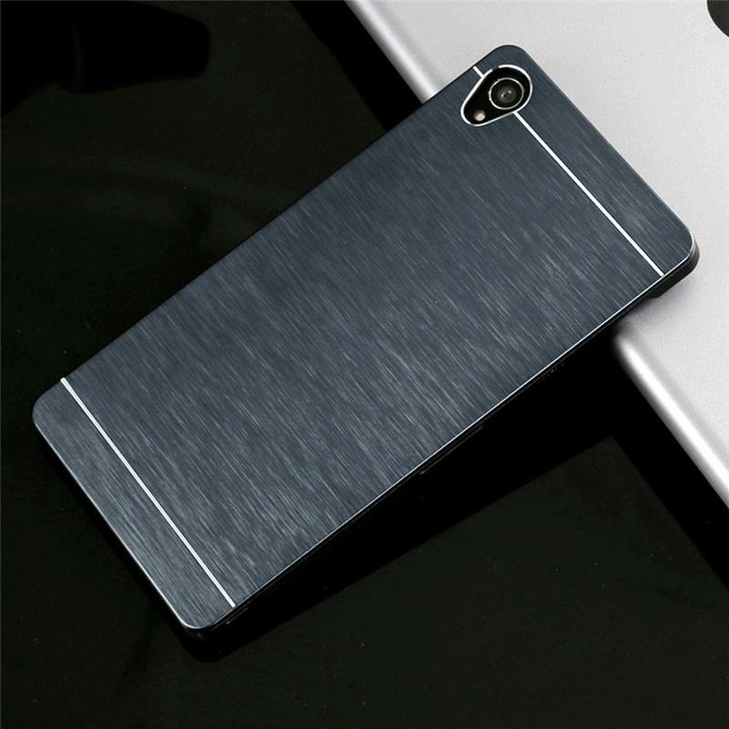 Karen Co.,Ltd for Sony Xperia Z1 Z3 Z5 Compact Mini T2 Ultra T3 M2 M4 Aqua M5 E3 C3 C4 C5 Case Aluminum Metal Brushed Hard PC Back Cover Cases