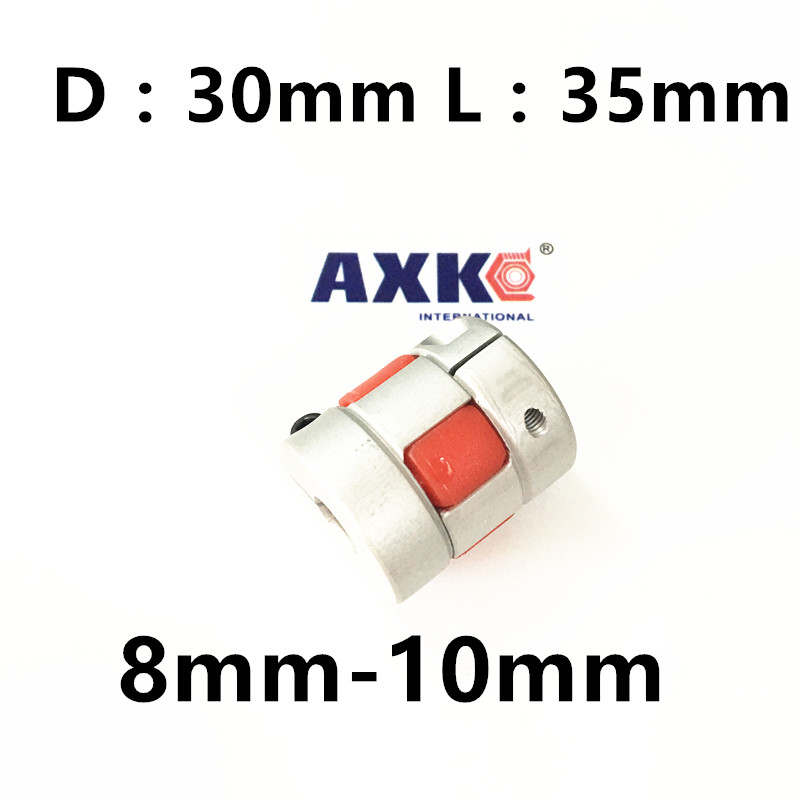 где купить  CNC Plum Shaft jaw spider Flexible Coupler 8mm*10mm Motor Coupling 8mm to 10mm Dia=30mm Length=35mm  по лучшей цене