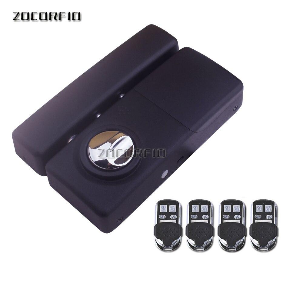 Lnstallation facile Sans Fil 433 Mhz Kit de Contrôle D'accès Sans Fil Serrure de Porte Électrique 4 pièces Télécommande