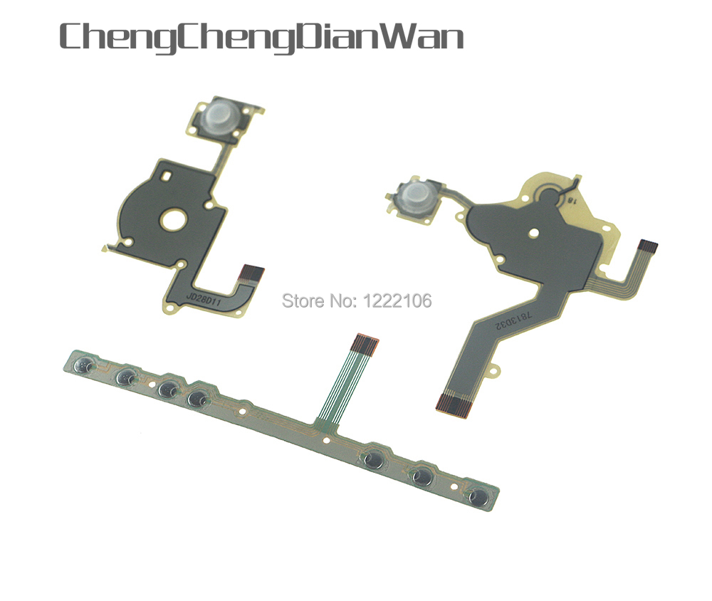 ChengChengDianWan For PSP 2000 PSP2000 Left Right Button Function Buttons Start Home Volume PCB Keypad Flex Cable Full Set
