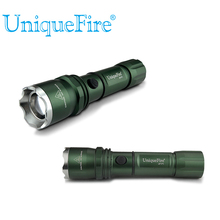 Cheap price UniqueFire 1200LM UF-P1 T6 Green Led Keychain Flashlight Zoomable 3.7V Led Flashlight With Laser Pointer For 1*18650 Battery